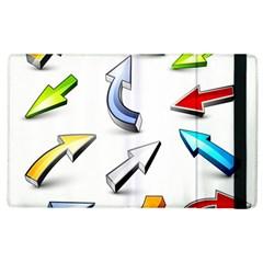 Three Dimensional Crystal Arrow Apple iPad 2 Flip Case