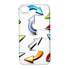 Three Dimensional Crystal Arrow Apple iPhone 4/4S Hardshell Case with Stand