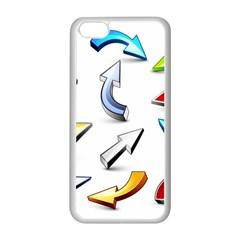 Three Dimensional Crystal Arrow Apple iPhone 5C Seamless Case (White)