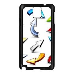 Three Dimensional Crystal Arrow Samsung Galaxy Note 3 N9005 Case (Black)