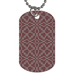 Simple Indian Design Wallpaper Batik Dog Tag (One Side)