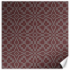 Simple Indian Design Wallpaper Batik Canvas 16  x 16