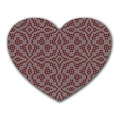 Simple Indian Design Wallpaper Batik Heart Mousepads