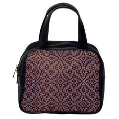 Simple Indian Design Wallpaper Batik Classic Handbags (One Side)