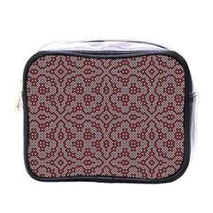 Simple Indian Design Wallpaper Batik Mini Toiletries Bags