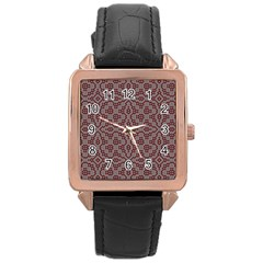 Simple Indian Design Wallpaper Batik Rose Gold Leather Watch