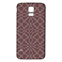 Simple Indian Design Wallpaper Batik Samsung Galaxy S5 Back Case (White)
