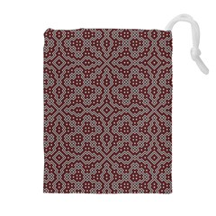 Simple Indian Design Wallpaper Batik Drawstring Pouches (Extra Large)