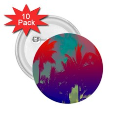 Tropical Coconut Tree 2.25  Buttons (10 pack)
