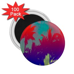 Tropical Coconut Tree 2.25  Magnets (100 pack)