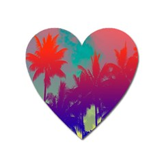Tropical Coconut Tree Heart Magnet