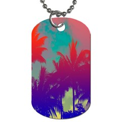 Tropical Coconut Tree Dog Tag (Two Sides)