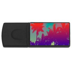 Tropical Coconut Tree USB Flash Drive Rectangular (4 GB)