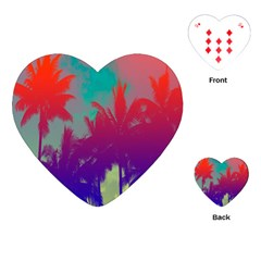 Tropical Coconut Tree Playing Cards (Heart)