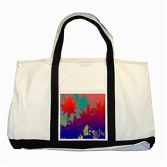Tropical Coconut Tree Two Tone Tote Bag