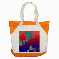 Tropical Coconut Tree Accent Tote Bag