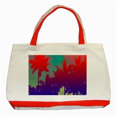 Tropical Coconut Tree Classic Tote Bag (Red)