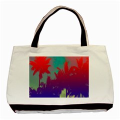 Tropical Coconut Tree Basic Tote Bag (Two Sides)