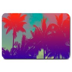 Tropical Coconut Tree Large Doormat