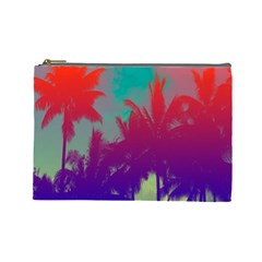 Tropical Coconut Tree Cosmetic Bag (Large)