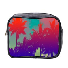 Tropical Coconut Tree Mini Toiletries Bag 2-Side