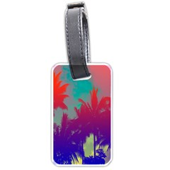 Tropical Coconut Tree Luggage Tags (Two Sides)