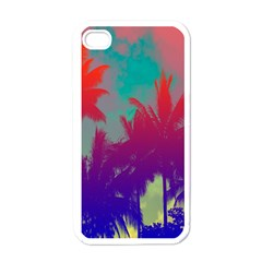 Tropical Coconut Tree Apple iPhone 4 Case (White)