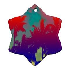 Tropical Coconut Tree Ornament (Snowflake)