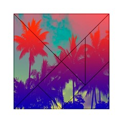 Tropical Coconut Tree Acrylic Tangram Puzzle (6  x 6 )
