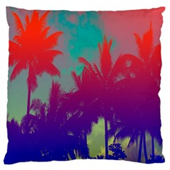 Tropical Coconut Tree Large Cushion Case (Two Sides)