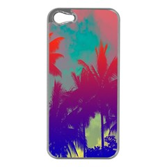 Tropical Coconut Tree Apple iPhone 5 Case (Silver)