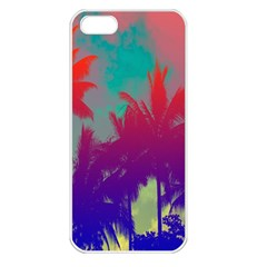 Tropical Coconut Tree Apple iPhone 5 Seamless Case (White)
