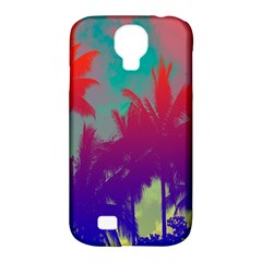 Tropical Coconut Tree Samsung Galaxy S4 Classic Hardshell Case (PC+Silicone)