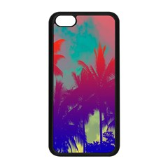 Tropical Coconut Tree Apple iPhone 5C Seamless Case (Black)