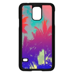 Tropical Coconut Tree Samsung Galaxy S5 Case (Black)