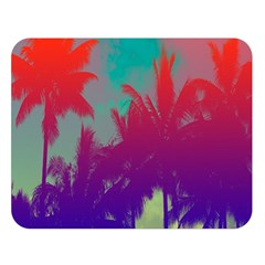 Tropical Coconut Tree Double Sided Flano Blanket (Large)