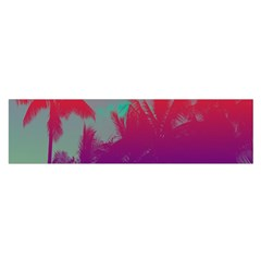 Tropical Coconut Tree Satin Scarf (Oblong)