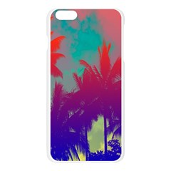 Tropical Coconut Tree Apple Seamless iPhone 6 Plus/6S Plus Case (Transparent)