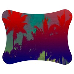 Tropical Coconut Tree Jigsaw Puzzle Photo Stand (bow)