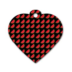Watermelon Dog Tag Heart (One Side)