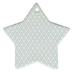 Web Grey Flower Pattern Ornament (star)