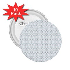 Web Grey Flower Pattern 2.25  Buttons (10 pack)