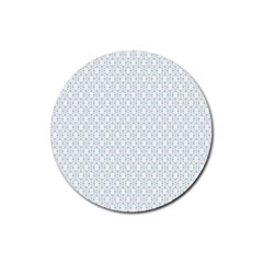 Web Grey Flower Pattern Rubber Coaster (Round)