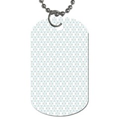 Web Grey Flower Pattern Dog Tag (One Side)