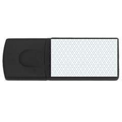 Web Grey Flower Pattern USB Flash Drive Rectangular (2 GB)