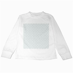 Web Grey Flower Pattern Kids Long Sleeve T-Shirts