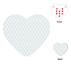 Web Grey Flower Pattern Playing Cards (Heart)