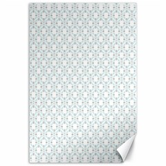 Web Grey Flower Pattern Canvas 24  x 36
