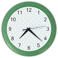 Web Grey Flower Pattern Color Wall Clocks