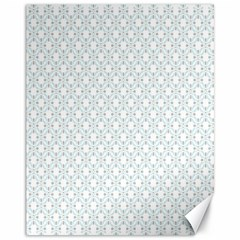 Web Grey Flower Pattern Canvas 11  x 14